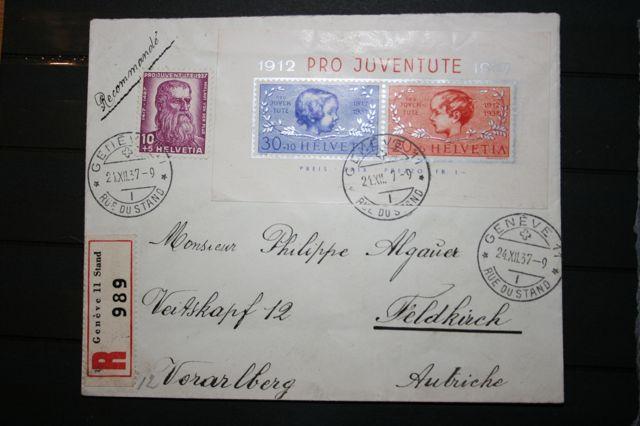 Zwi 1937 Blok 3 op brief (1)