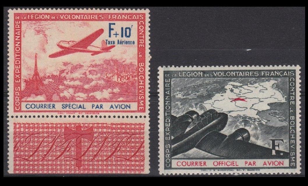 Fra WW2 1941 AIR MAIL LVF 2-3
